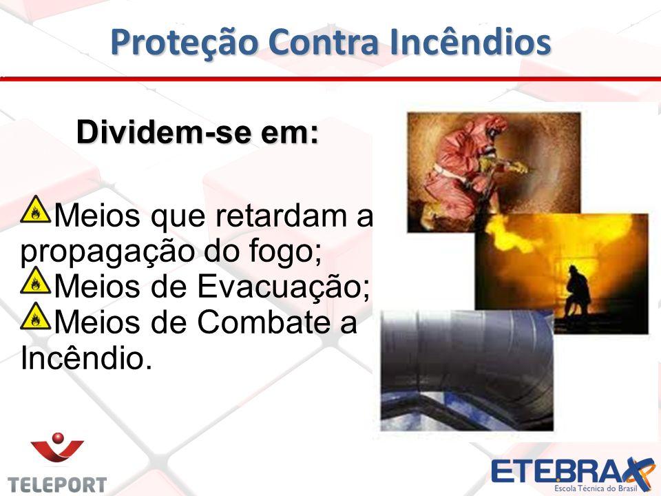 Proteção Contra Incêndios Conceito Sistema de prevenção compreende um conjunto de instalações destinado à proteção contra incêndio de uma determinada