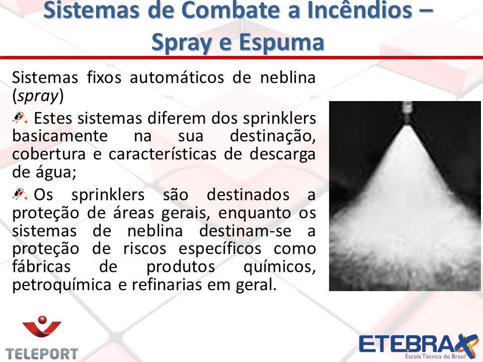 Sistemas de Combate a Incêndios - PQS Sistemas de Mangotinhos Consiste em um ou mais carretéis de magotinho, com esguicho, e conectados a uma tubulaçã