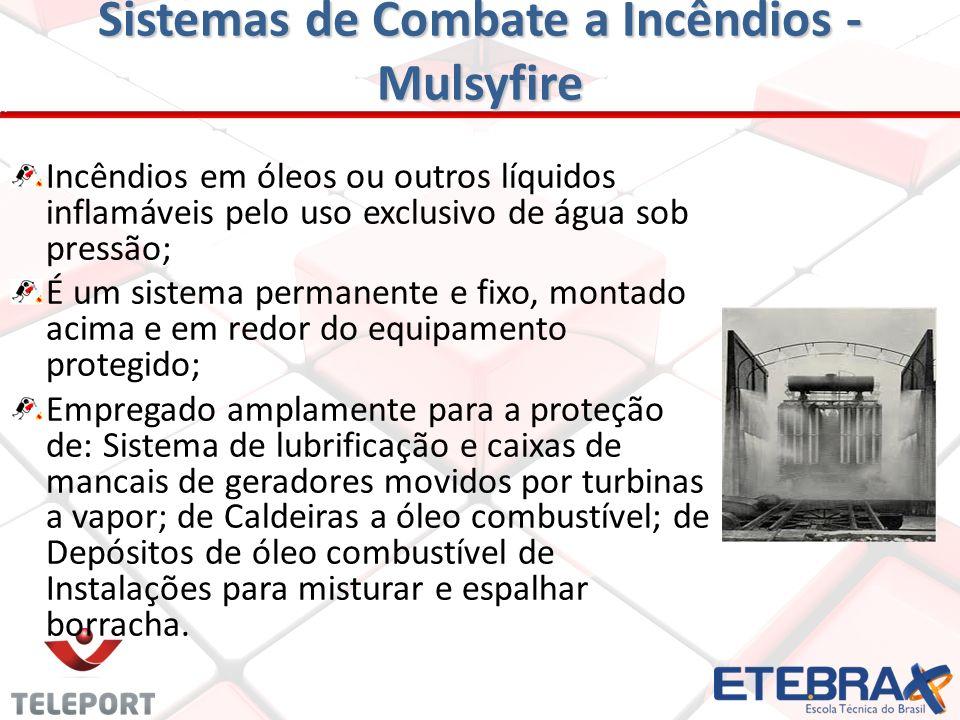 Sistemas de Combate a Incêndios – Spray e Espuma Instalações Fixas de Espuma Empregadas em proteção de tanques de armazenagem, hangares, refinarias, f