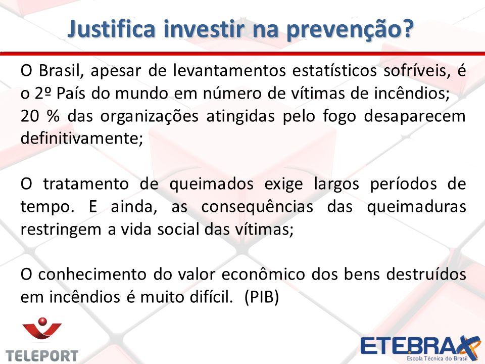 Justifica investir na prevenção? O Brasil, apesar de levantamentos estatísticos sofríveis, é o 2º País do mundo em número de vítimas de incêndios; 20