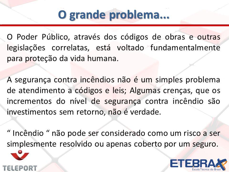 O grande problema... O Poder Público, através dos códigos de obras e outras legislações correlatas, está voltado fundamentalmente para proteção da vid