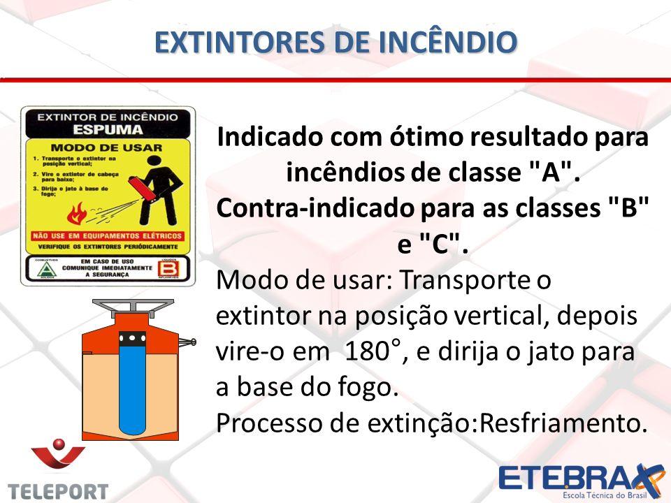 EXTINTORES DE INCÊNDIO Indicado com ótimo resultado para incêndios de classe