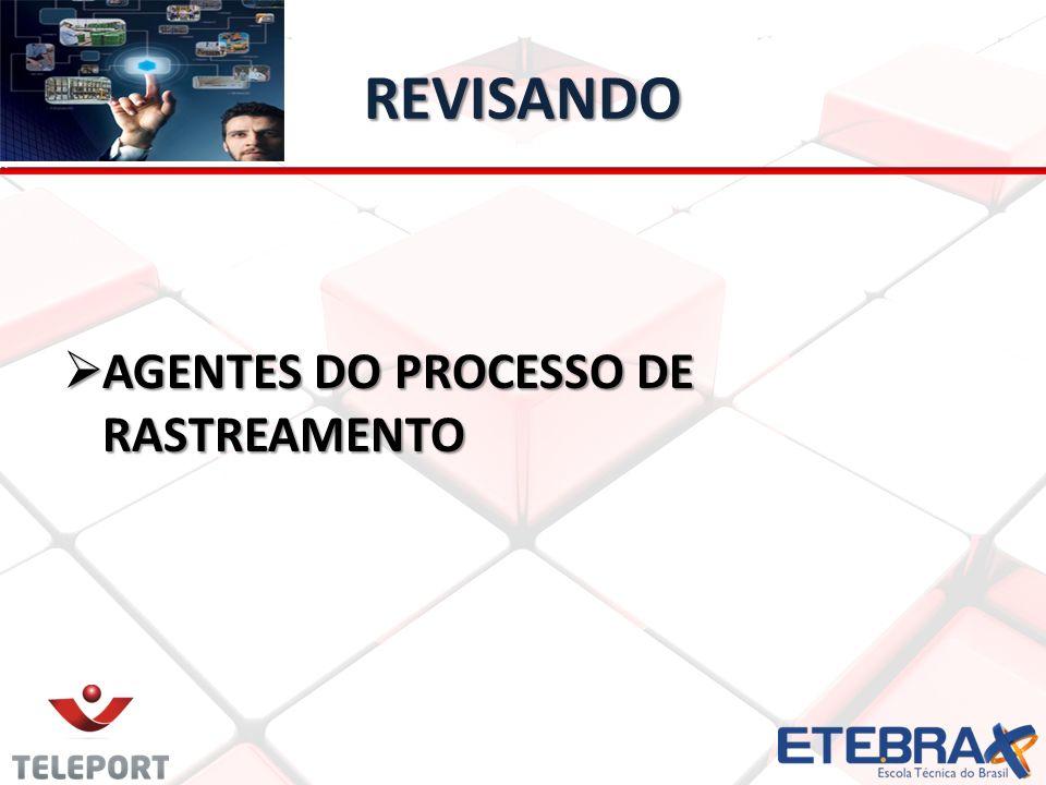 REVISANDO AGENTES DO PROCESSO DE RASTREAMENTO AGENTES DO PROCESSO DE RASTREAMENTO
