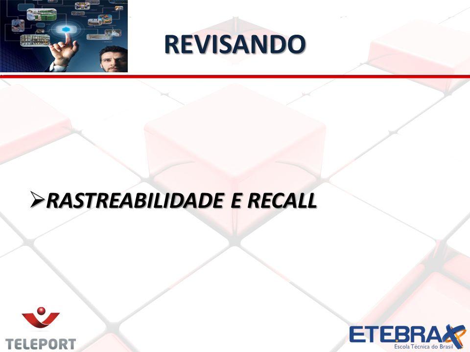 REVISANDO RASTREABILIDADE E RECALL RASTREABILIDADE E RECALL