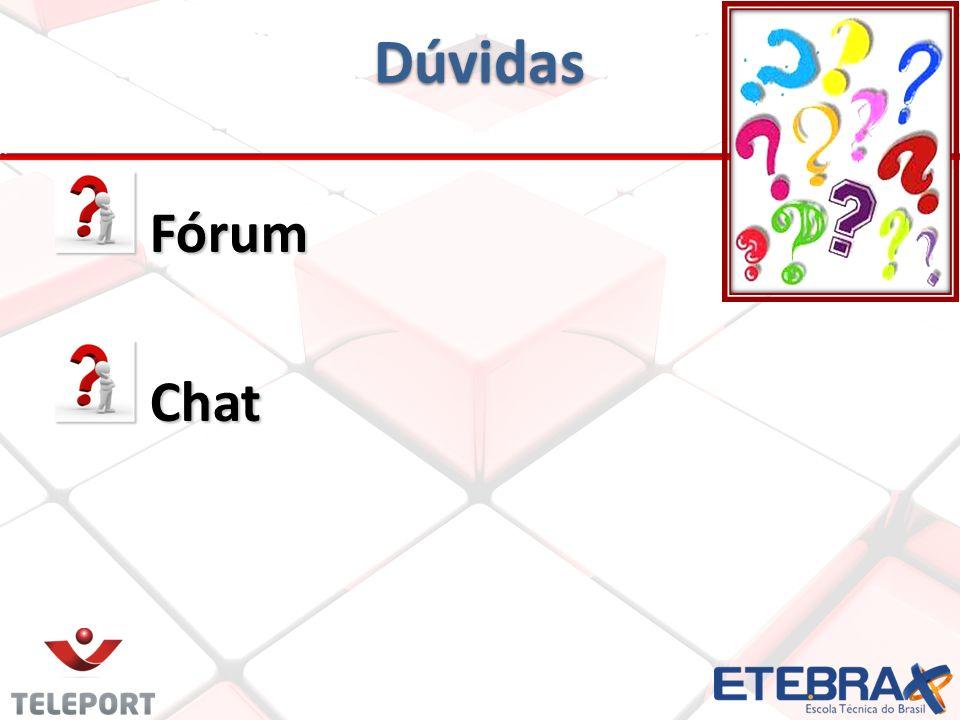 Dúvidas Fórum Fórum Chat Chat