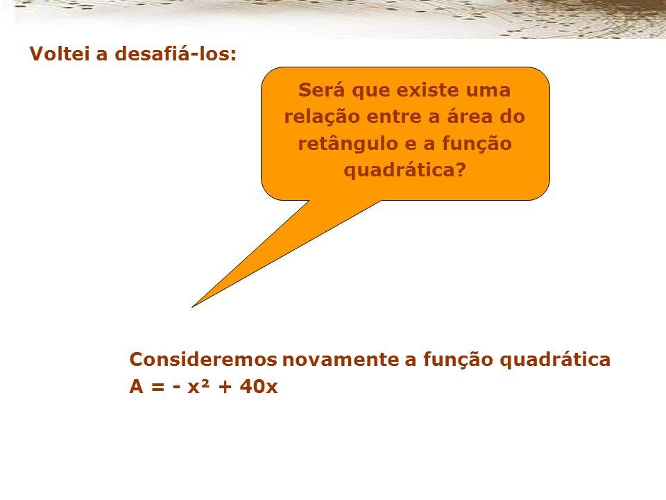 O retângulo que terá a maior área será o de lados X=20 cm e y=20 cm, e a área máxima será de 400 cm².