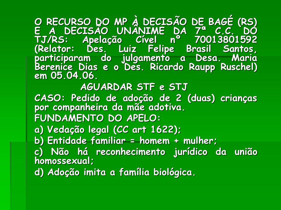 A (IM)POSSIBILIDADE DE ADOÇÃO CONJUNTA POR CASAL HOMOSSEXUAL SOB AS ATUAIS REGRAS CONSTITUCIONAIS AS DECISÕES AUTORIZATIVAS DO RIO GRANDE DO SUL(2) E