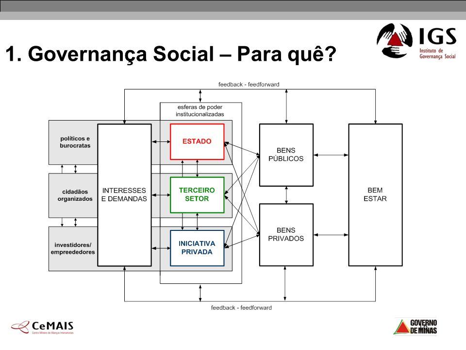 16 1. Governança Social – Para quê?