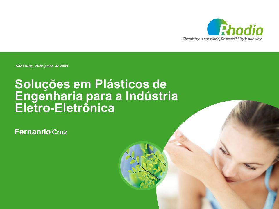 Soluções em Plásticos de Engenharia para a Indústria Eletro-Eletrônica Fernando Cruz São Paulo, 24 de junho de 2009