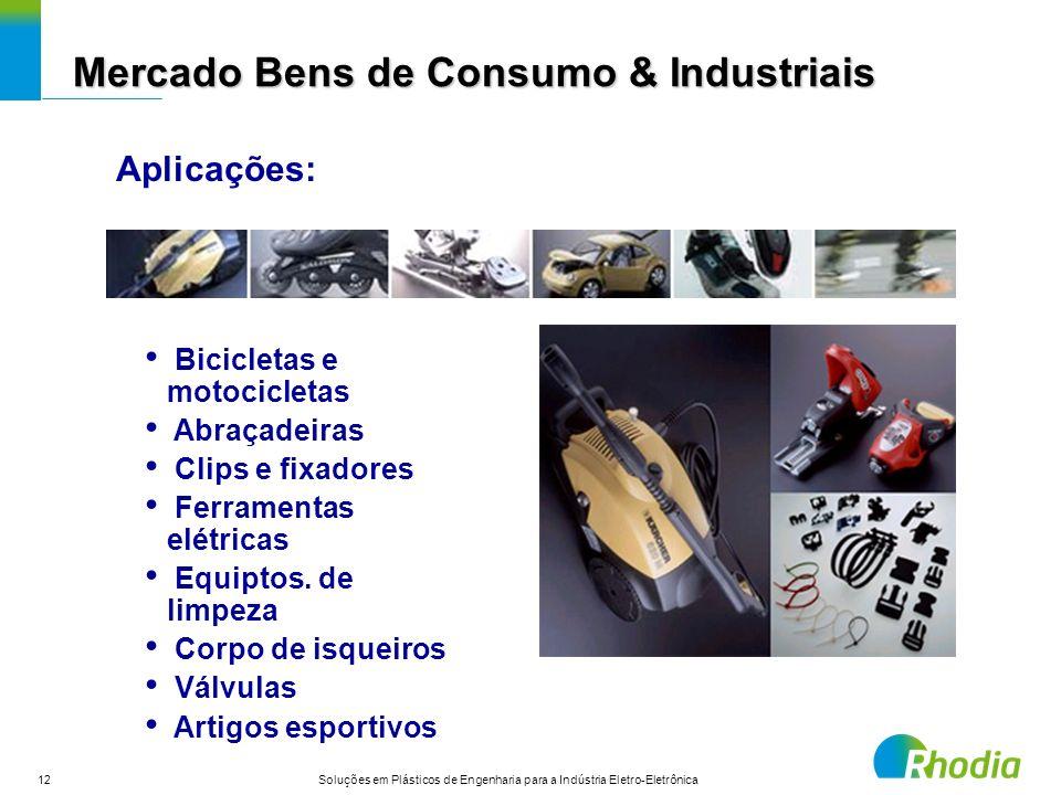 12 Soluções em Plásticos de Engenharia para a Indústria Eletro-Eletrônica Bicicletas e motocicletas Abraçadeiras Clips e fixadores Ferramentas elétric