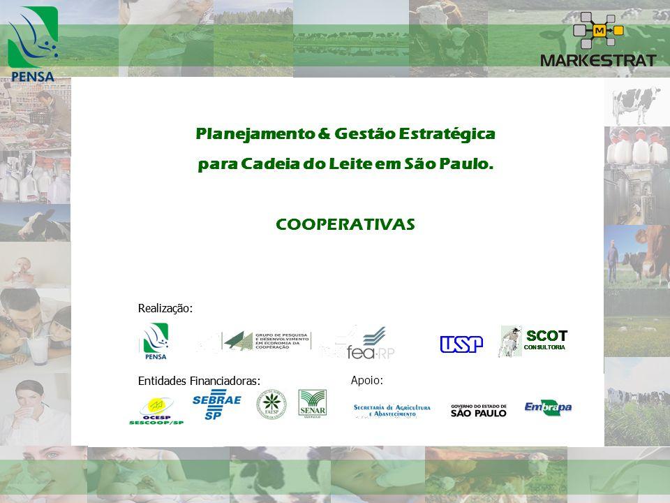Planejamento & Gestão Estratégica para Cadeia do Leite em São Paulo. COOPERATIVAS Realização: Entidades Financiadoras: Realização: SCOT CONSULTORIA SC