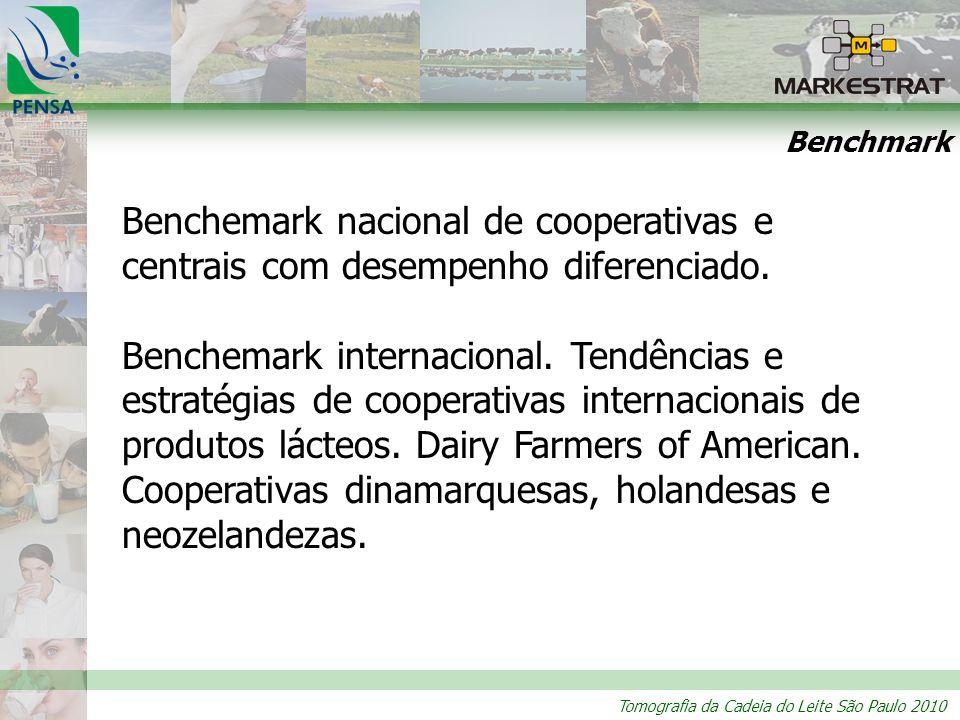 Tomografia da Cadeia do Leite São Paulo 2010 Benchmark Benchemark nacional de cooperativas e centrais com desempenho diferenciado. Benchemark internac