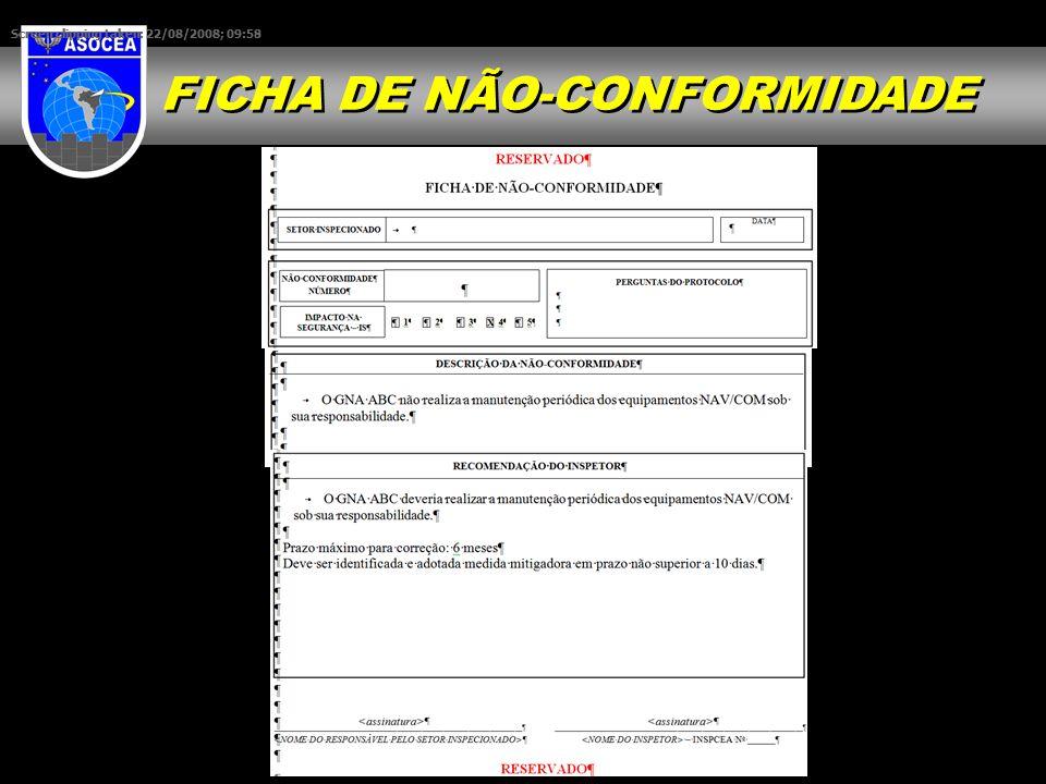 FICHA DE NÃO-CONFORMIDADE Screen clipping taken: 22/08/2008; 09:58 Screen clipping taken: 22/08/2008; 09:59