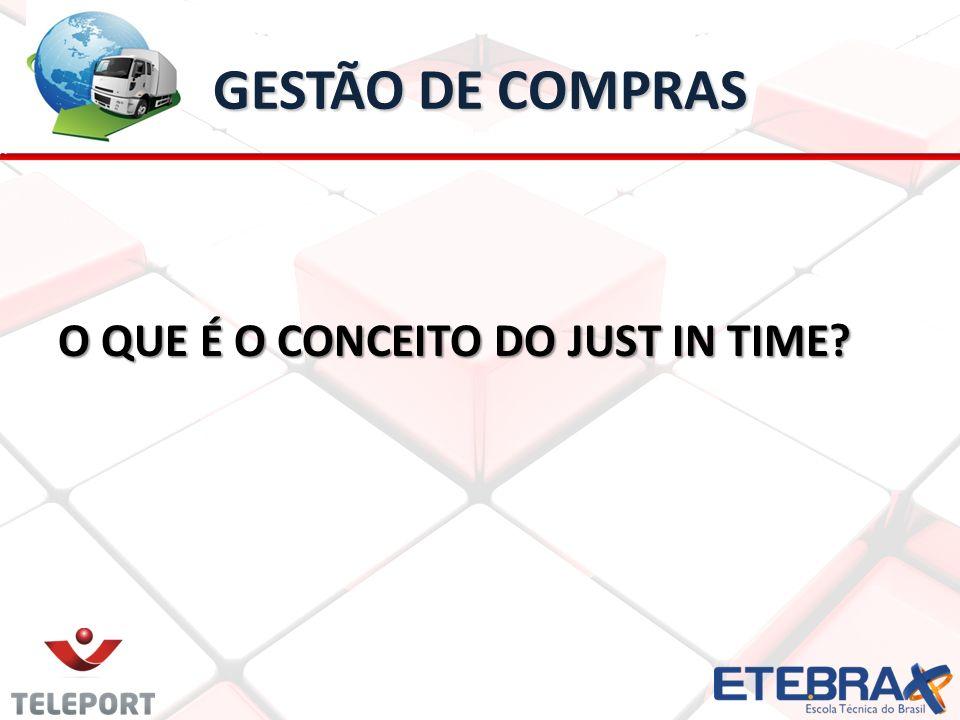 GESTÃO DE COMPRAS O QUE É O CONCEITO DO JUST IN TIME?