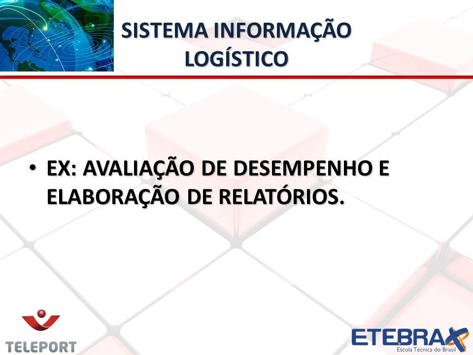 SISTEMA INFORMAÇÃO LOGÍSTICO EX: AVALIAÇÃO DE DESEMPENHO E ELABORAÇÃO DE RELATÓRIOS.