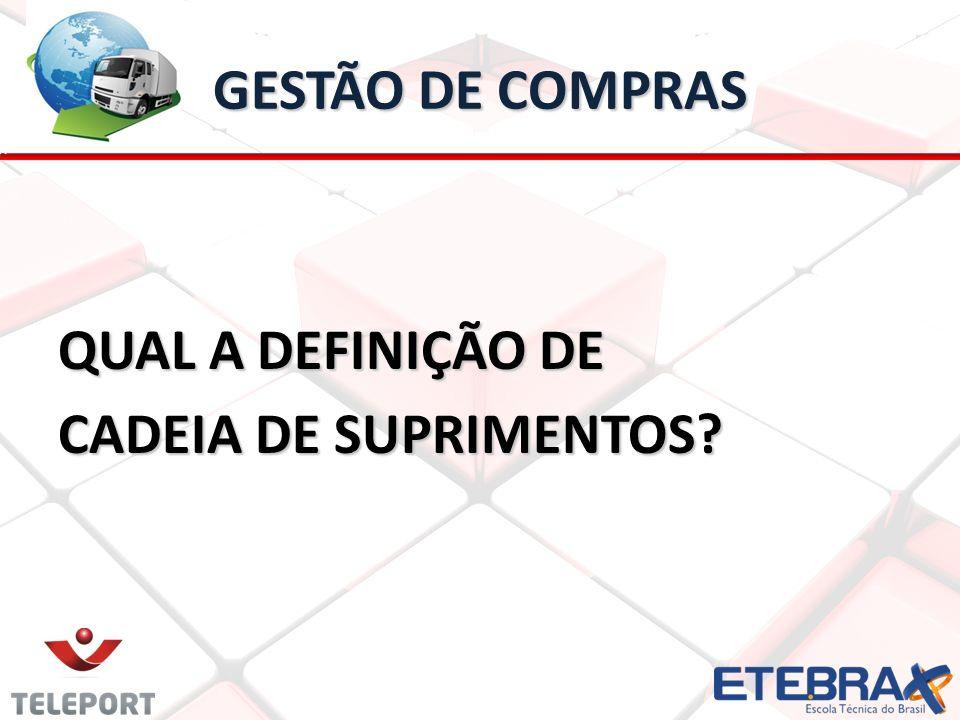 GESTÃO DE COMPRAS QUAL A DEFINIÇÃO DE CADEIA DE SUPRIMENTOS?