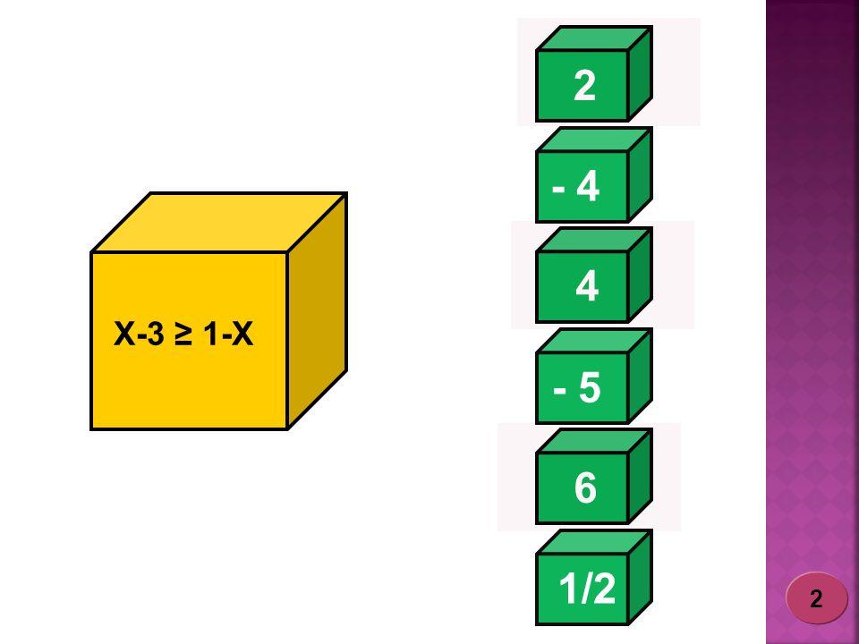 2 - 4 1/2 - 5 6 4 X-3 1-X 2