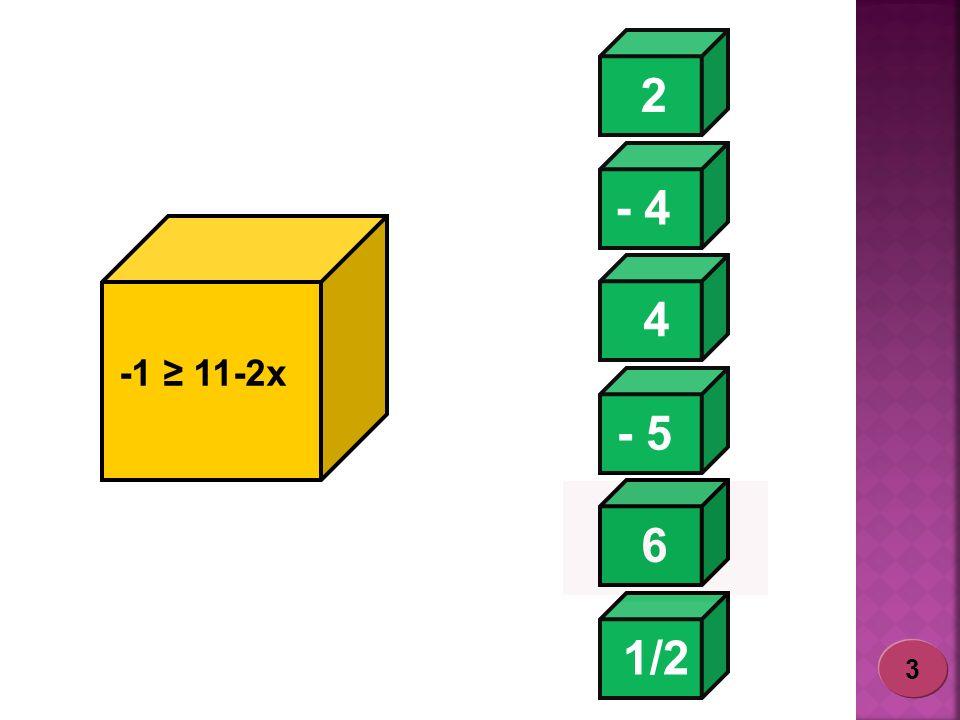 2 - 4 1/2 - 5 6 4 -1 11-2x 3