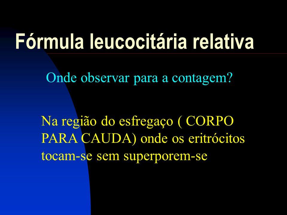Fórmula leucocitária relativa O QUE OBSERVAR.