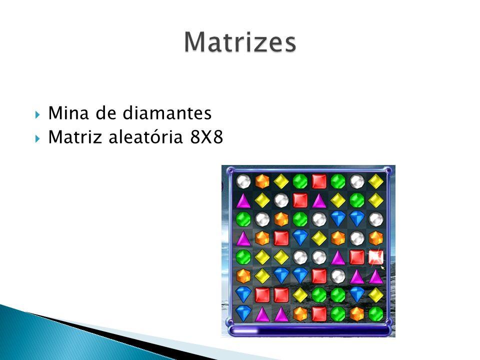 Mina de diamantes Matriz aleatória 8X8