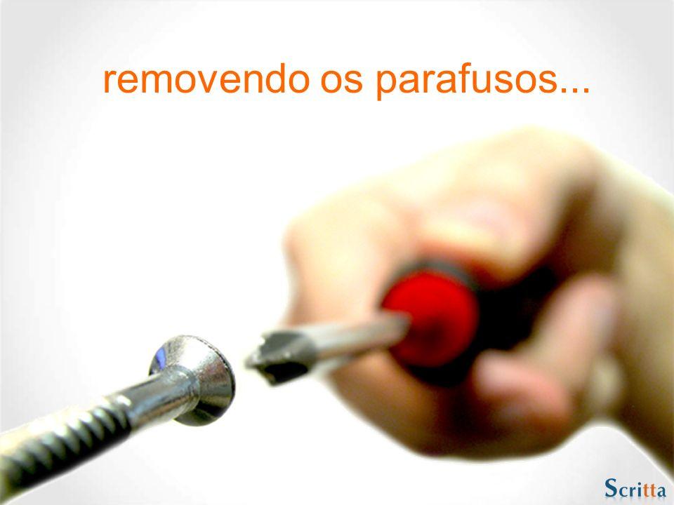 removendo os parafusos...