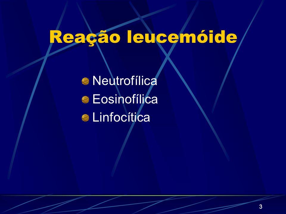 2 Doença proliferativas dos leucócitos 1 – Reação leucemóide 2 - Leucoses
