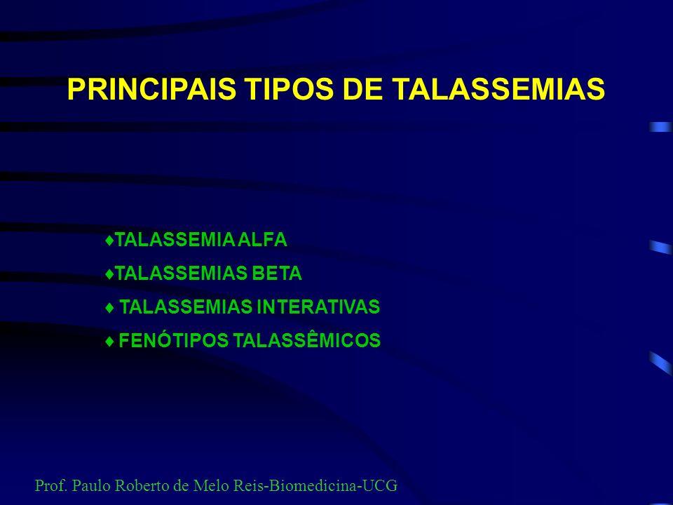 Prevalência de anemias hereditárias no Brasil Prof. Paulo Roberto de Melo Reis-Biomedicina-UCG