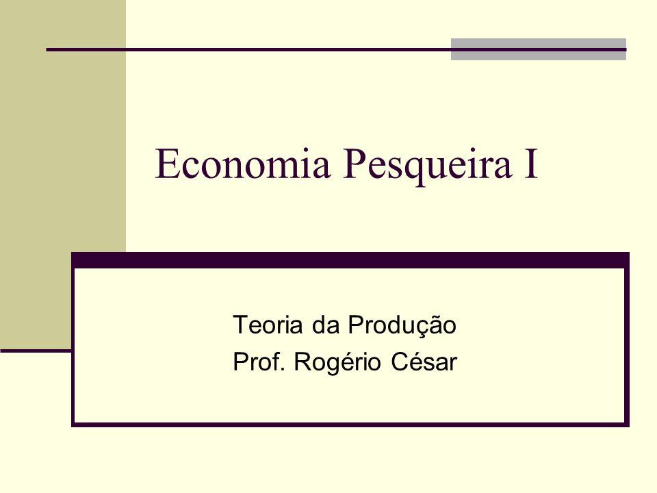Economia Pesqueira I Teoria da Produção Prof. Rogério César