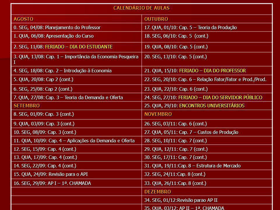 CALENDÁRIO DE AULAS AGOSTOOUTUBRO 0.SEG, 04/08: Planejamento do Professor 17.