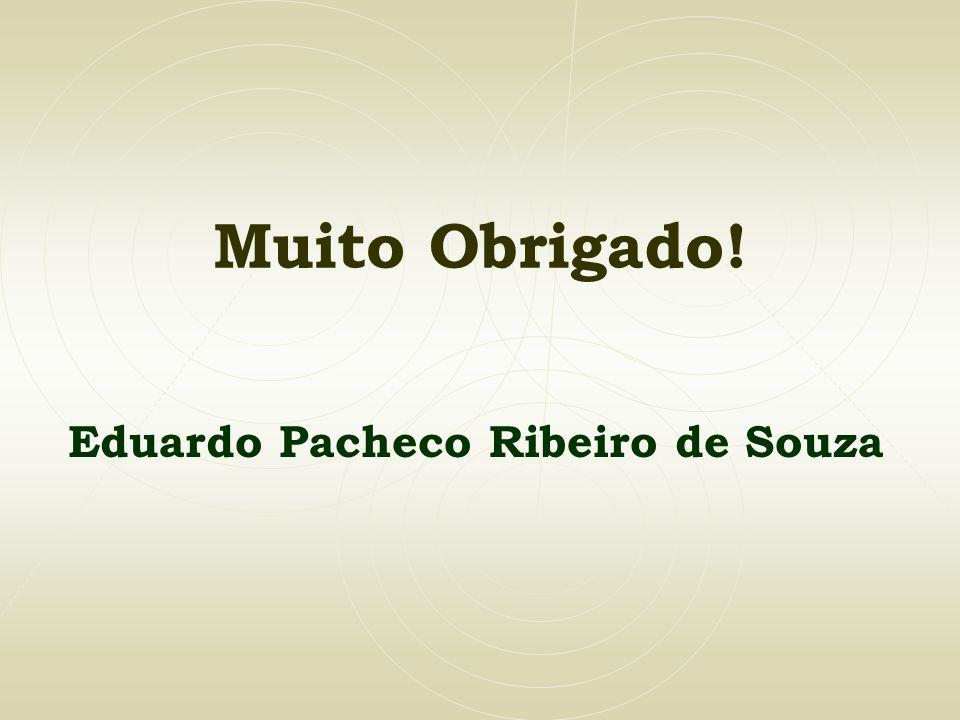 Muito Obrigado! Eduardo Pacheco Ribeiro de Souza