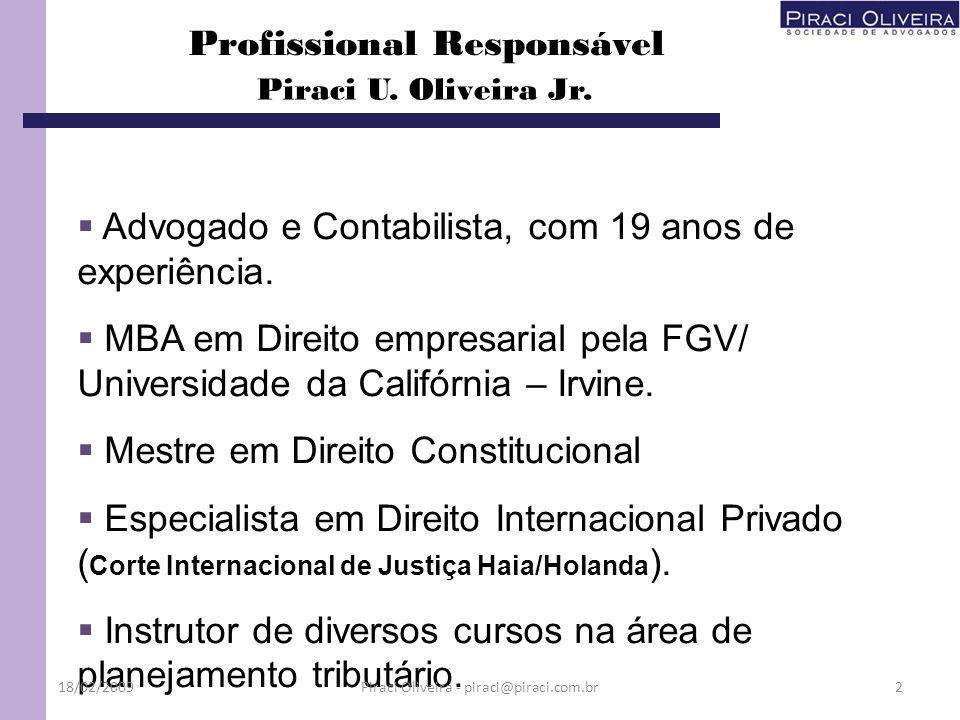 Foi instituído pelo Convênio ICMS 143 de 15/12/2006, alterado pelos Convênios 123/07 e 13/08; 3 – EFD - Escrituração Fiscal Digital ou SPED Fiscal 18/02/200953 O Protocolo ICMS 77 de 18 de setembro de 2008 determina os obrigados ao SPED Fiscal e sua obrigatoriedade se faz a contar de 01 de janeiro de 2009; Piraci Oliveira - piraci@piraci.com.br