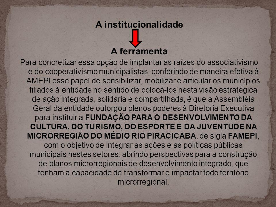 Para concretizar essa opção de implantar as raízes do associativismo e do cooperativismo municipalistas, conferindo de maneira efetiva à AMEPI esse pa
