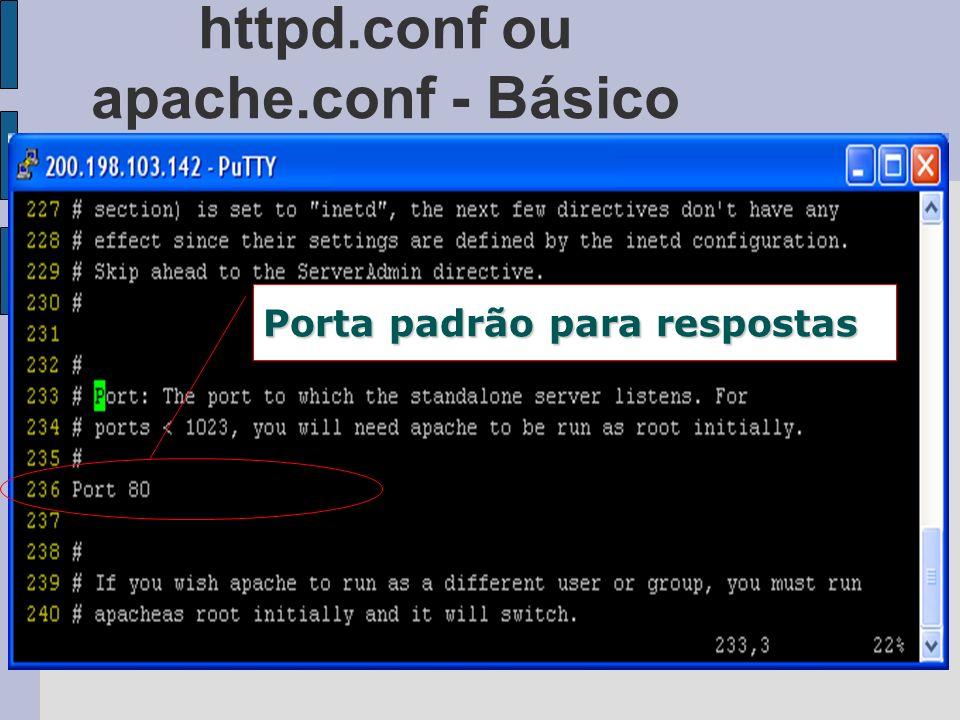httpd.conf ou apache.conf - Básico Porta padrão para respostas
