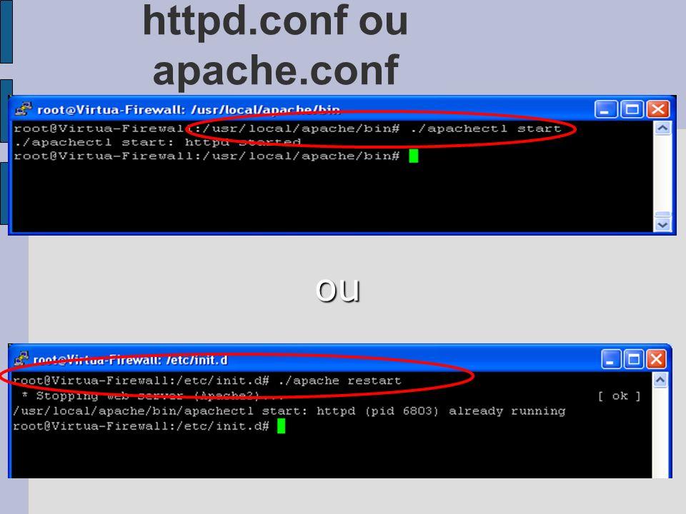 httpd.conf ou apache.conf ou
