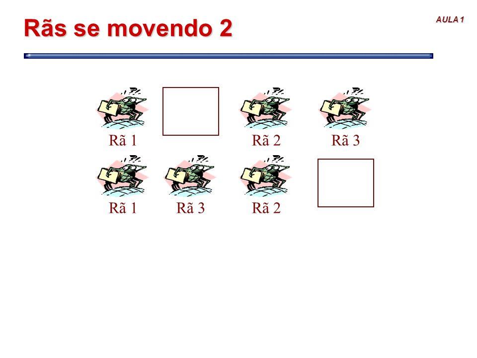 AULA 1 Rãs se movendo 2 Rã 1Rã 2Rã 3Rã 1Rã 2Rã 3