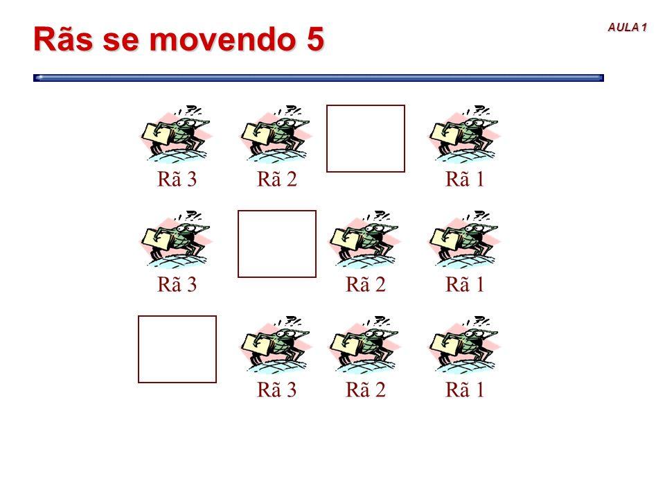 AULA 1 Rãs se movendo 5 Rã 1Rã 2Rã 3Rã 1Rã 2Rã 3Rã 1Rã 2Rã 3