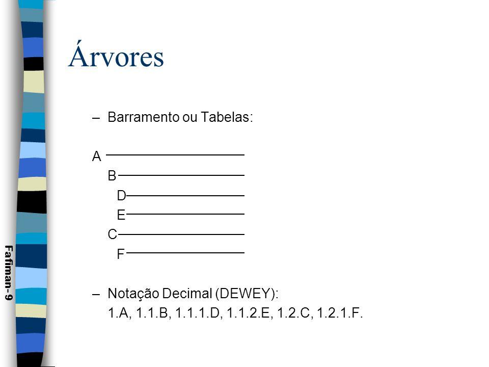 Árvores n Aplicações de árvores: –Representações genealógicas; –Representação de objetos que possuem relação hierárquica.
