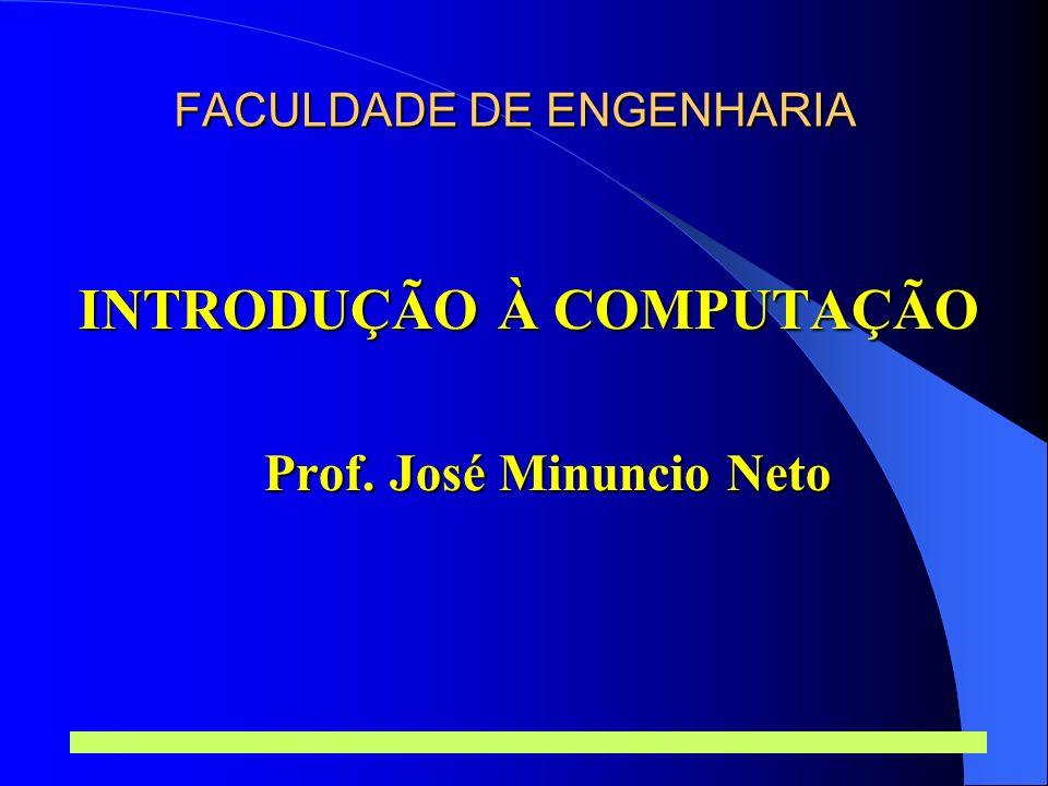 Prof.José Minuncio Neto 1 Introdução à Computação Software Dom.