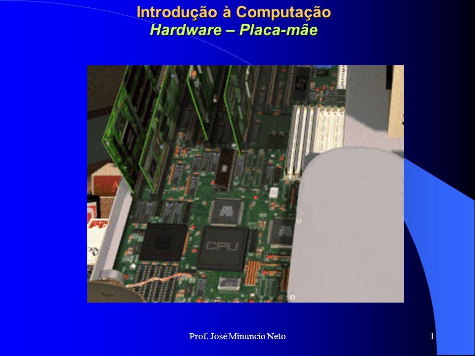 Prof. José Minuncio Neto 1 Introdução à Computação Hardware – Placa-mãe
