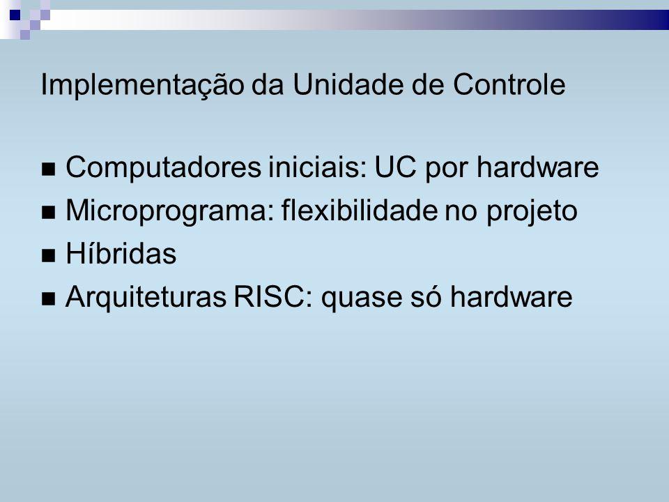 Unidade de Controle por Microprograma...Linhas de controle da CPU...