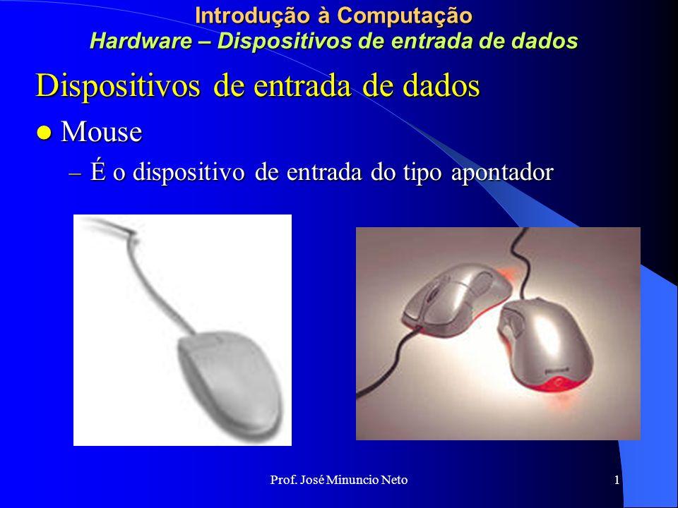 Prof. José Minuncio Neto 1 Introdução à Computação Redes e Comunicação de Dados Estrela