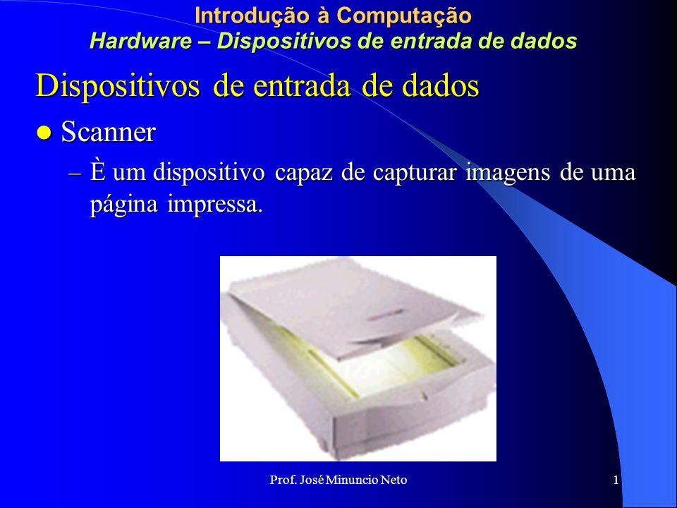 Prof. José Minuncio Neto 1 Introdução à Computação Redes e Comunicação de Dados Anel