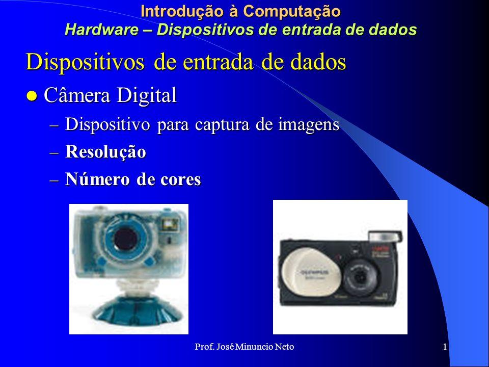 Prof. José Minuncio Neto 1 Introdução à Computação Redes e Comunicação de Dados