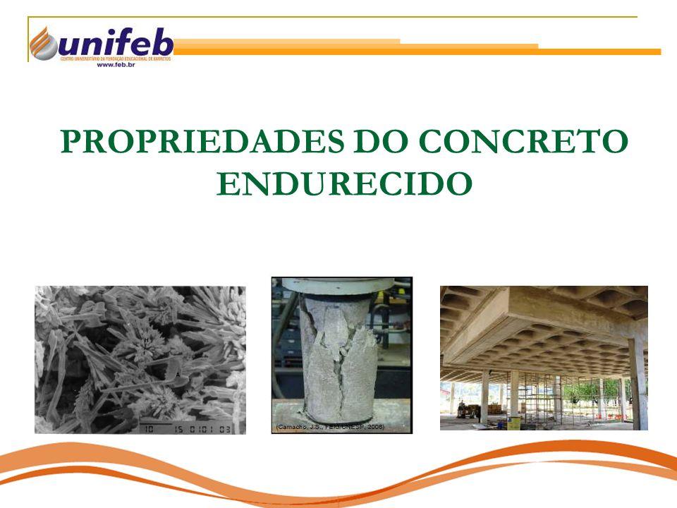 PROPRIEDADES DO CONCRETO ENDURECIDO