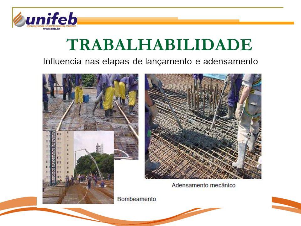 TRABALHABILIDADE Influencia nas etapas de lançamento e adensamento