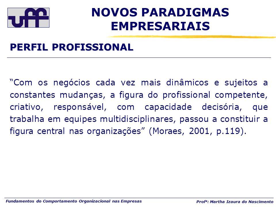 Fundamentos do Comportamento Organizacional nas Empresas Prof a : Martha Izaura do Nascimento Com os negócios cada vez mais dinâmicos e sujeitos a con