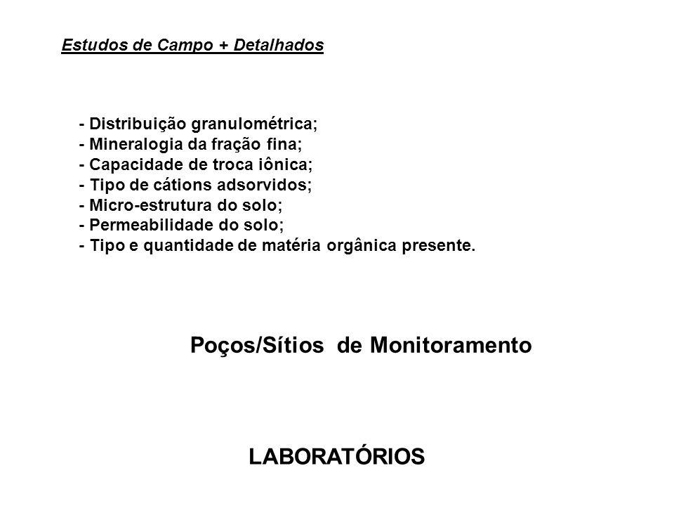 - Distribuição granulométrica; - Mineralogia da fração fina; - Capacidade de troca iônica; - Tipo de cátions adsorvidos; - Micro-estrutura do solo; -