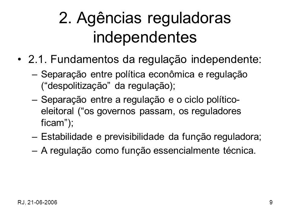RJ, 21-06-200630 5.A regulação dos seguros 5.1.