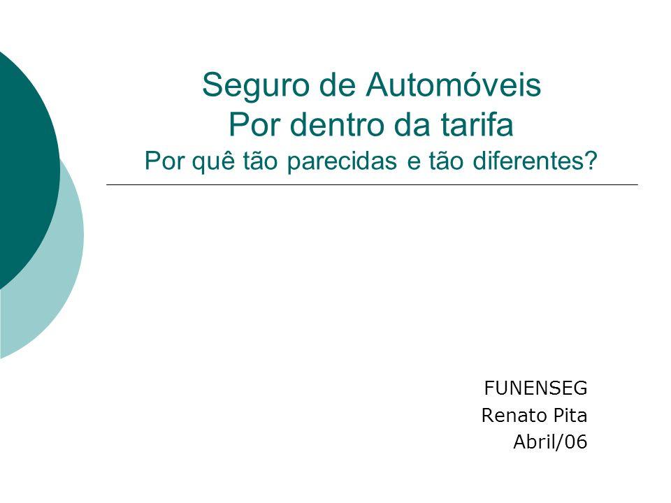 Seguro de Automóveis Por dentro da tarifa Por quê tão parecidas e tão diferentes? FUNENSEG Renato Pita Abril/06