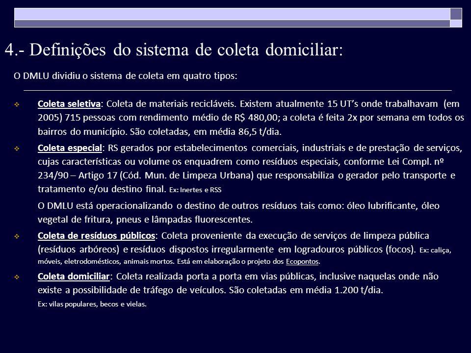Figura 2.- Divisão do município em sete áreas de coleta O DMLU dividiu o município em 7 áreas de coleta de acordo com: a freqüencia na coleta (diária, alternada par, alternada ímpar); o turno (diurno e noturno).